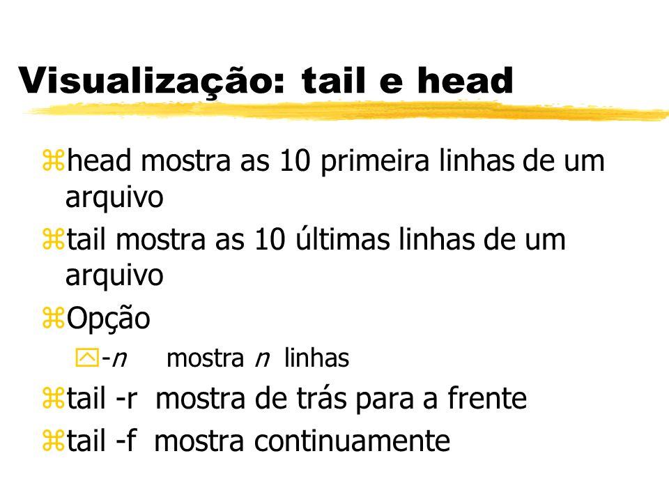 Visualização: tail e head