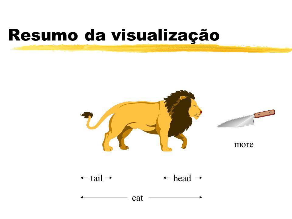 Resumo da visualização
