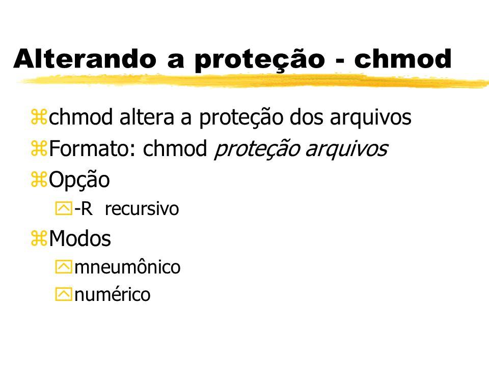 Alterando a proteção - chmod
