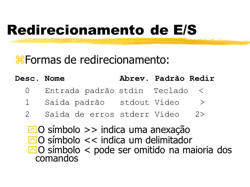 Redirecionamento de E/S