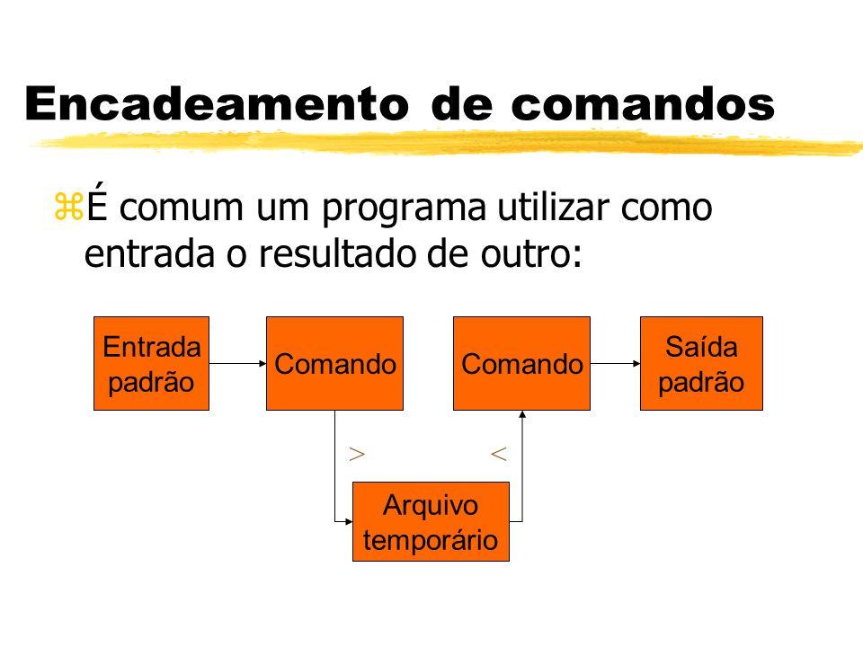 Encadeamento de comandos