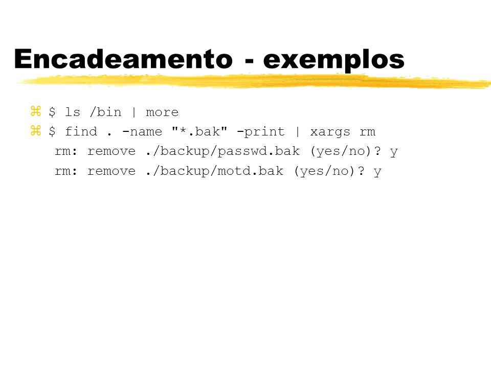 Encadeamento - exemplos