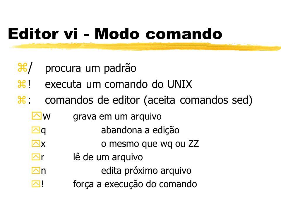 Editor vi - Modo comando