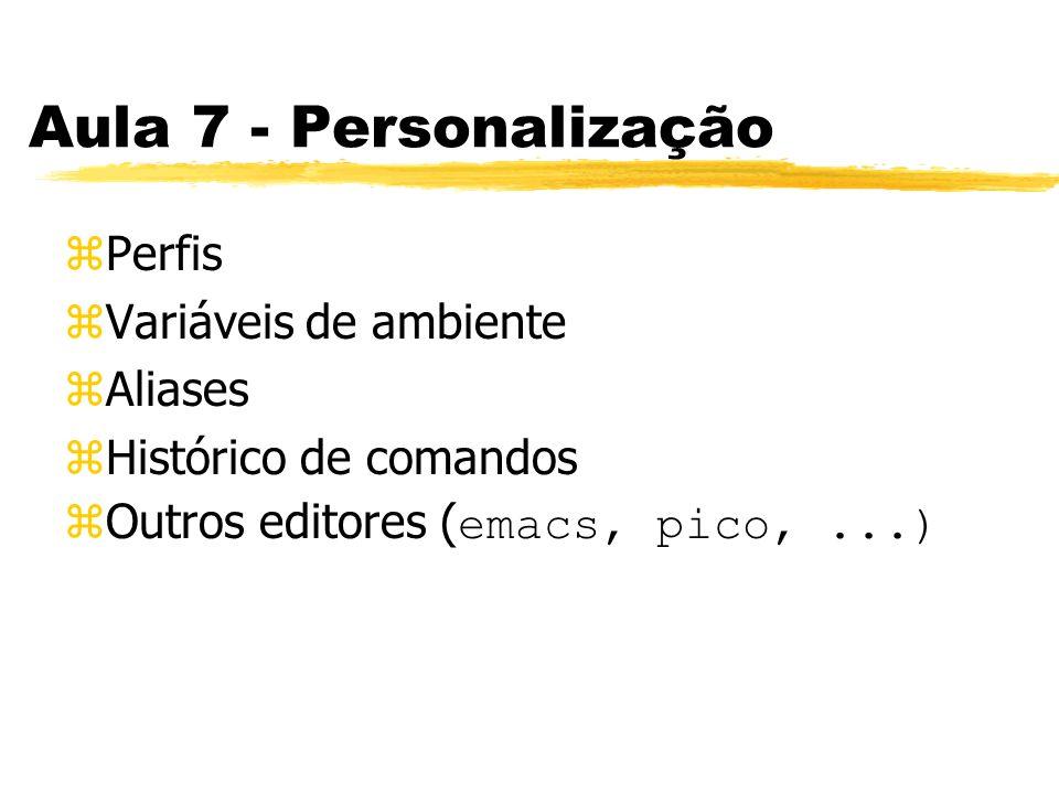 Aula 7 - Personalização Perfis Variáveis de ambiente Aliases