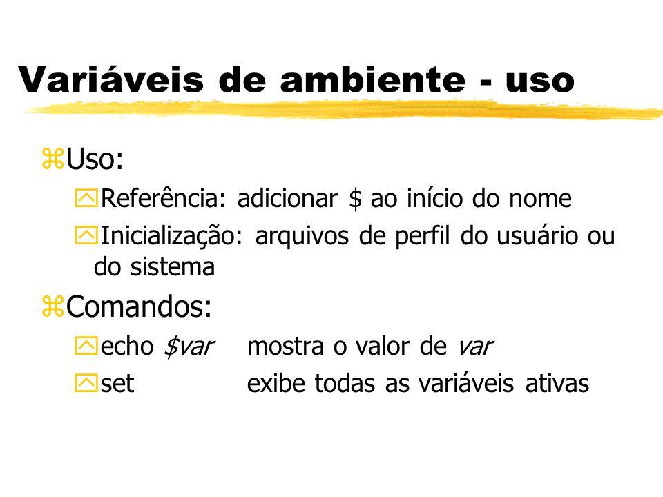 Variáveis de ambiente - uso