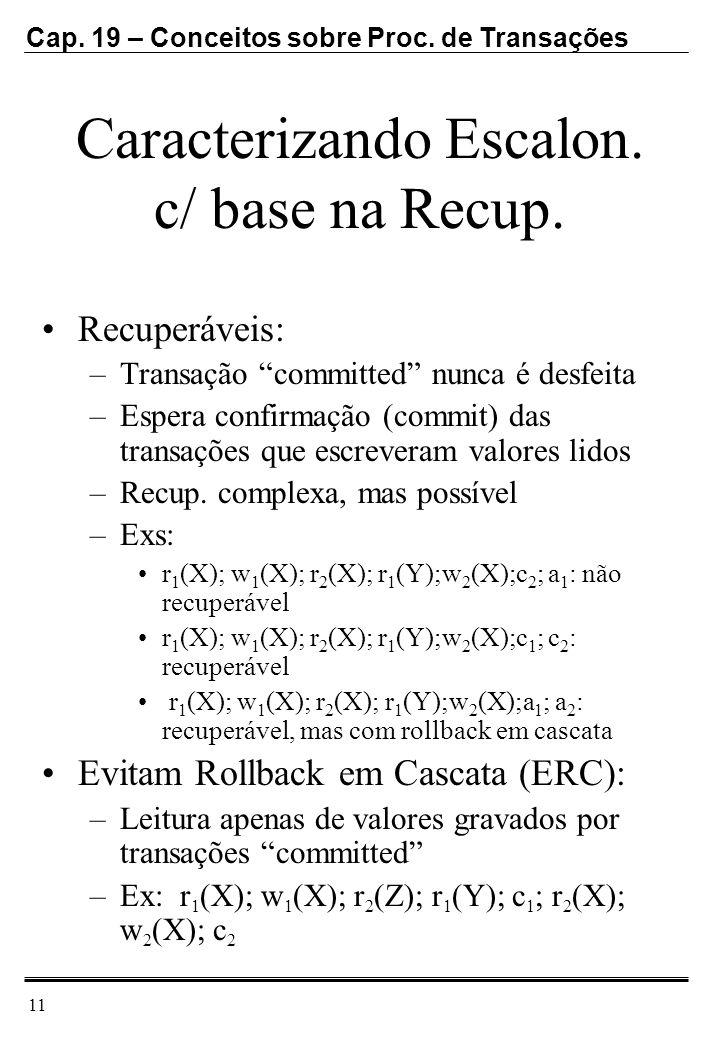 Caracterizando Escalon. c/ base na Recup.