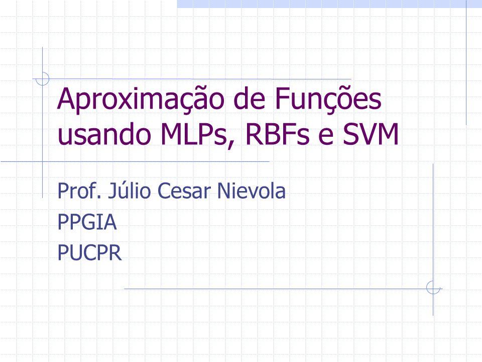 Aproximação de Funções usando MLPs, RBFs e SVM