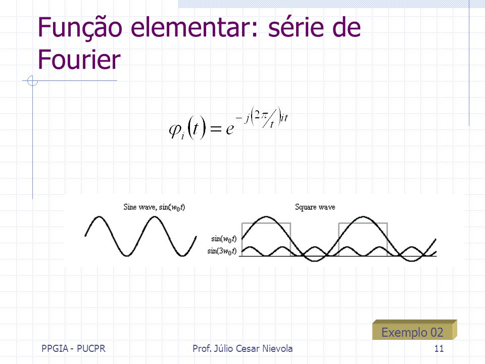 Função elementar: série de Fourier