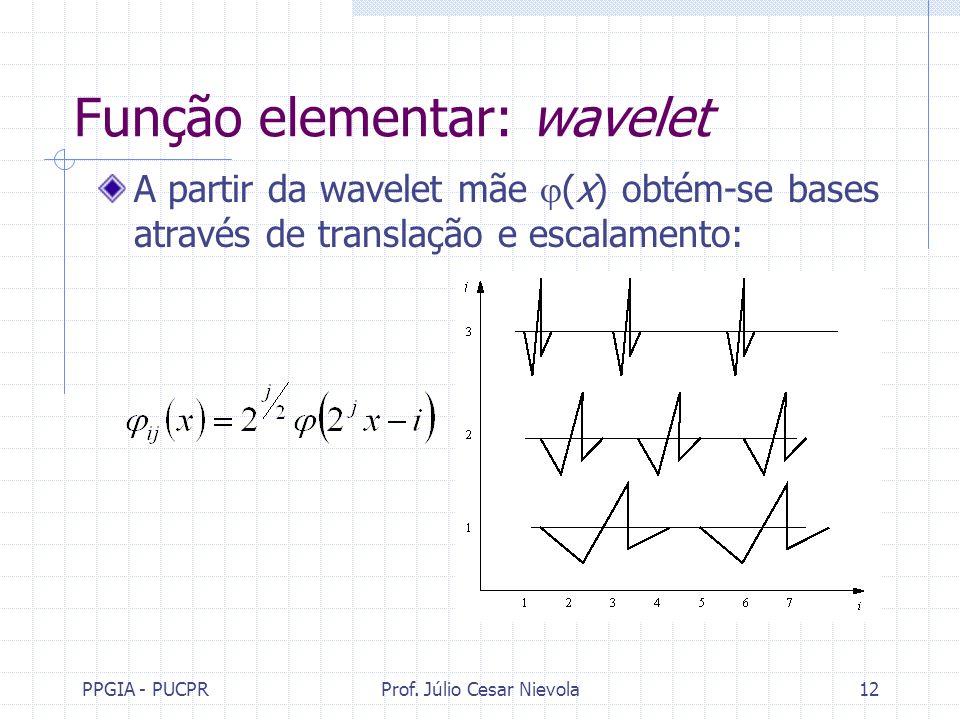 Função elementar: wavelet