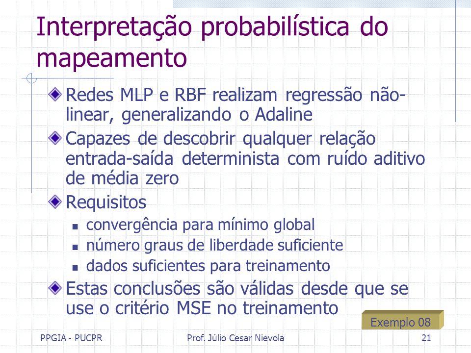 Interpretação probabilística do mapeamento