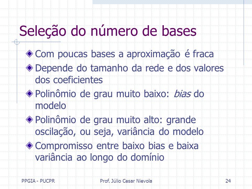 Seleção do número de bases