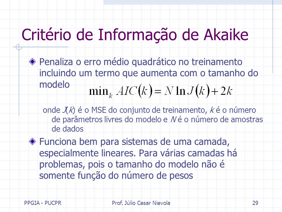 Critério de Informação de Akaike
