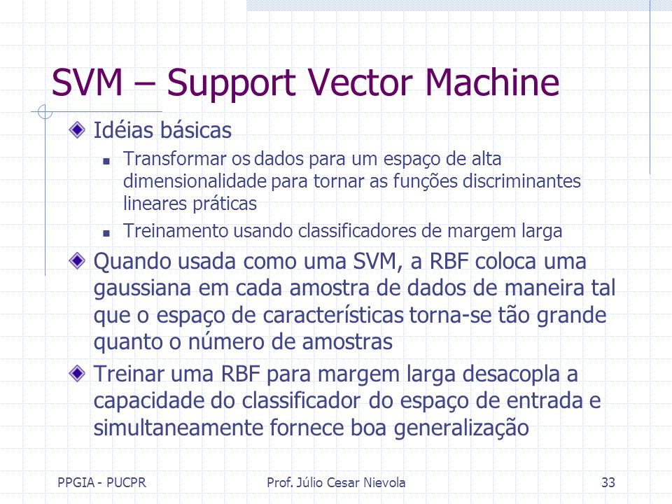 SVM – Support Vector Machine