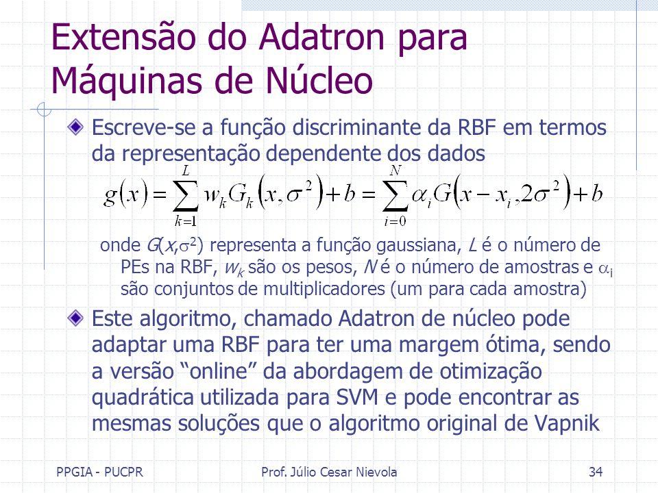 Extensão do Adatron para Máquinas de Núcleo