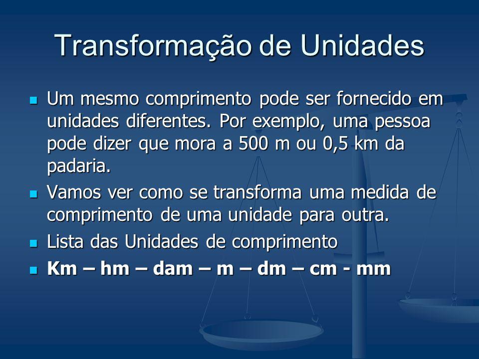 Transformação de Unidades