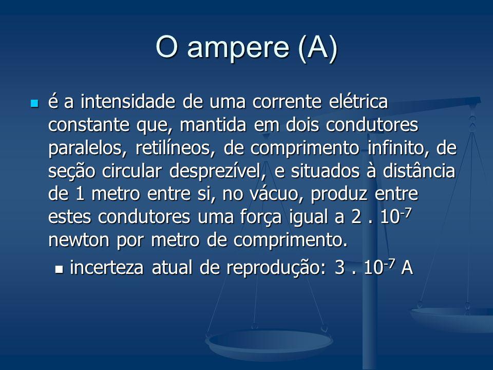 O ampere (A)
