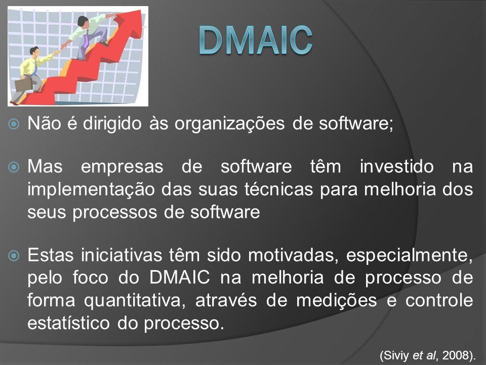 DMAIC Não é dirigido às organizações de software;