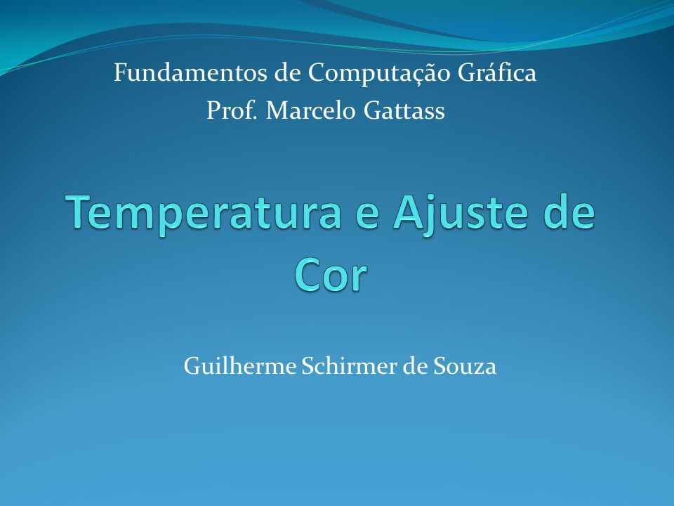Temperatura e Ajuste de Cor