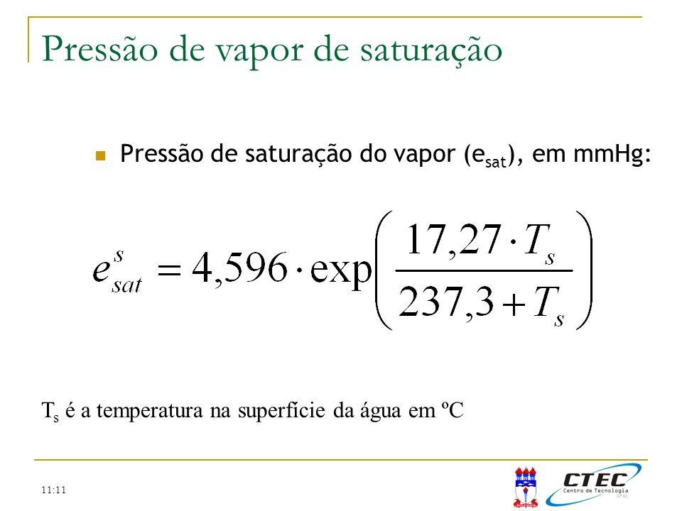 Pressão de vapor de saturação