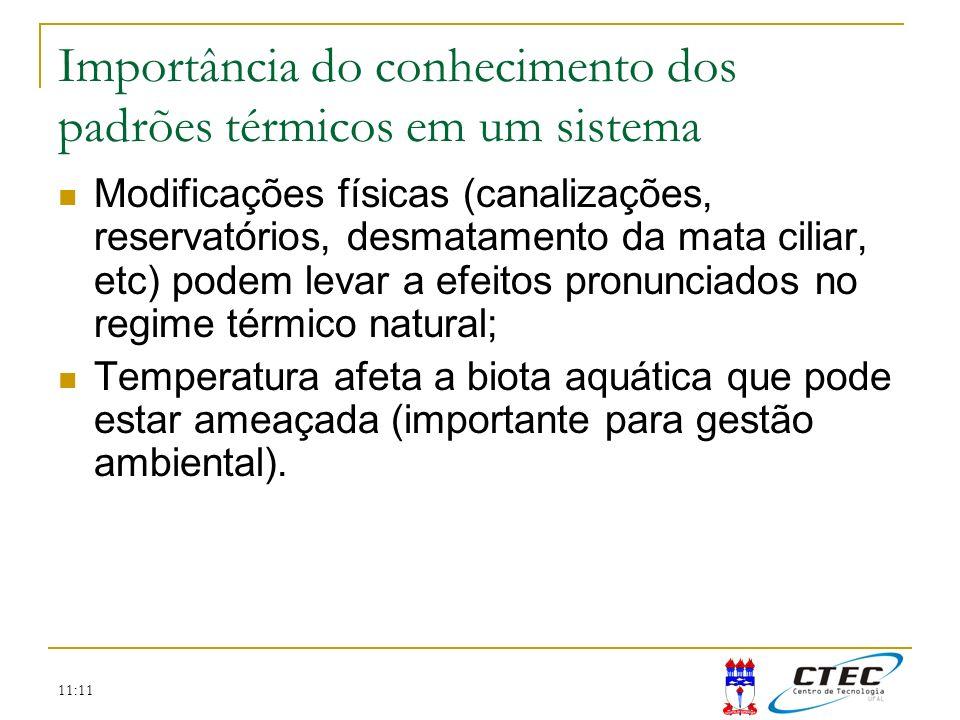Importância do conhecimento dos padrões térmicos em um sistema