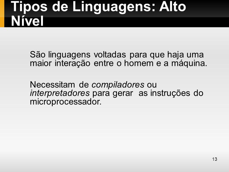 Tipos de Linguagens: Alto Nível