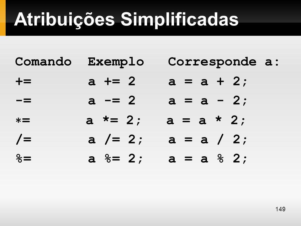 Atribuições Simplificadas