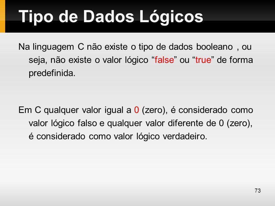 Tipo de Dados Lógicos