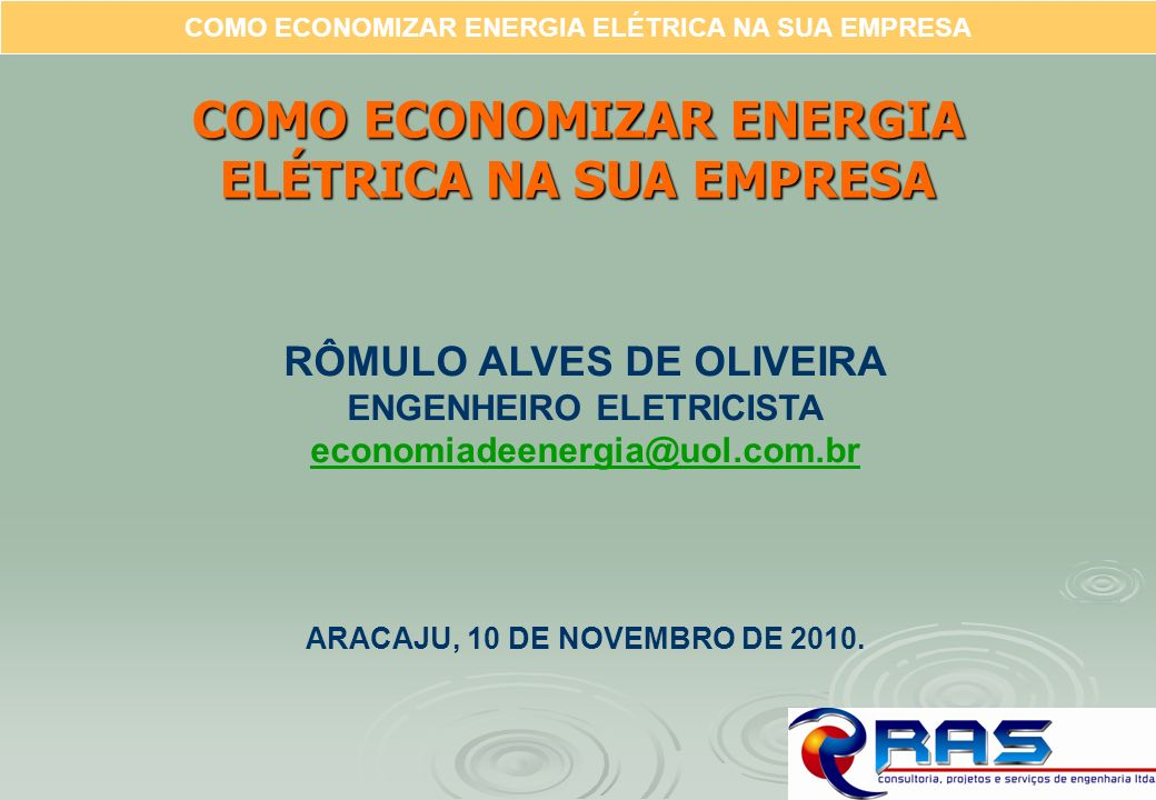 COMO ECONOMIZAR ENERGIA ELÉTRICA NA SUA EMPRESA