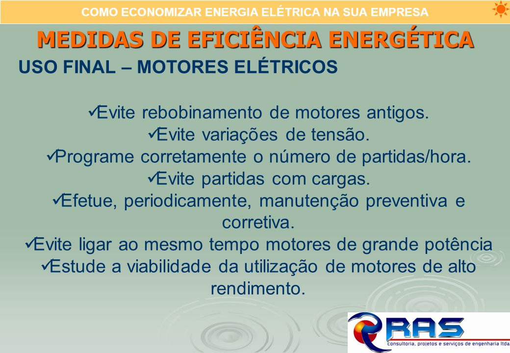 MEDIDAS DE EFICIÊNCIA ENERGÉTICA