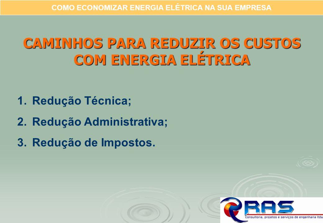 CAMINHOS PARA REDUZIR OS CUSTOS COM ENERGIA ELÉTRICA