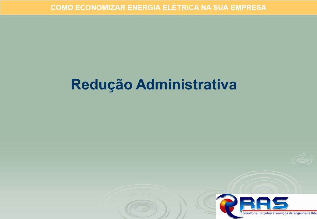 Redução Administrativa