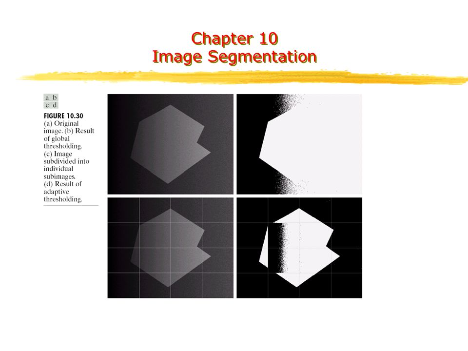 Chapter 10 Image Segmentation