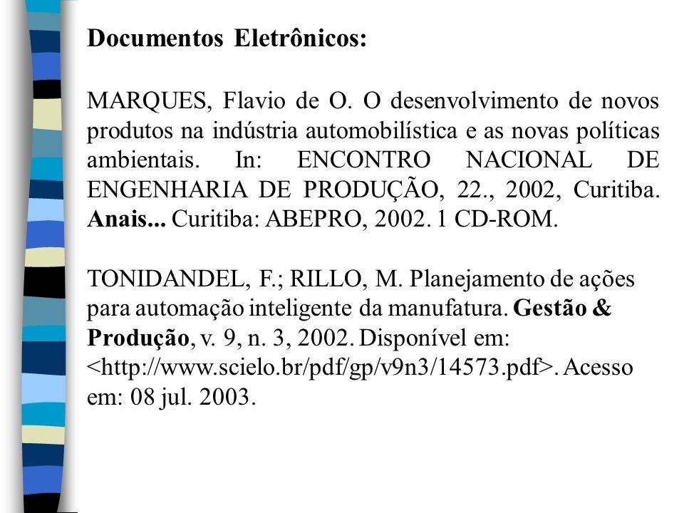Documentos Eletrônicos: