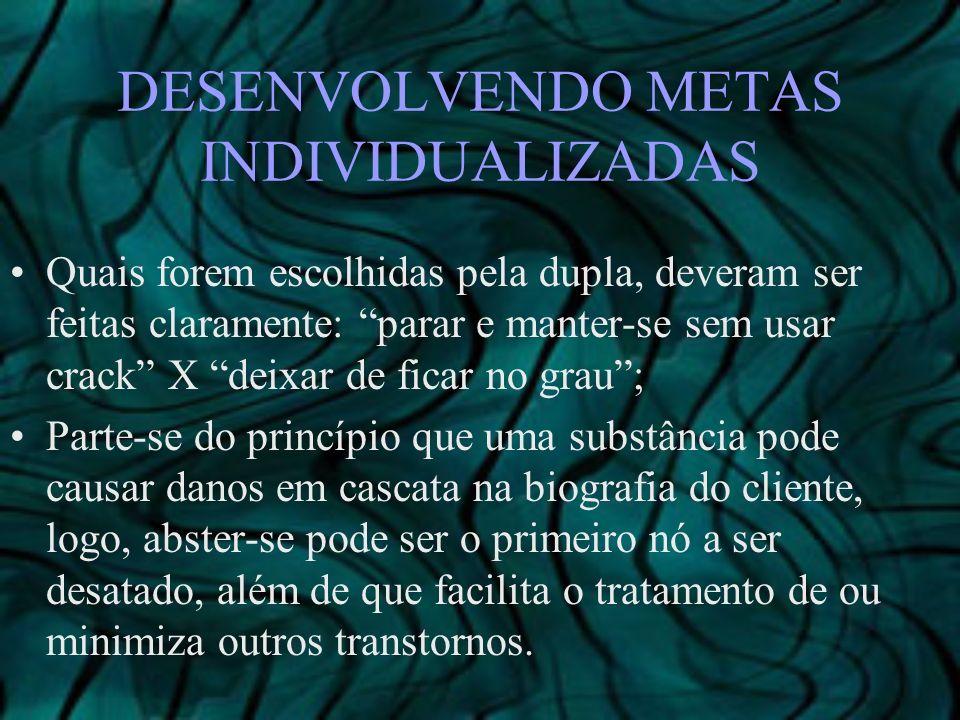 DESENVOLVENDO METAS INDIVIDUALIZADAS