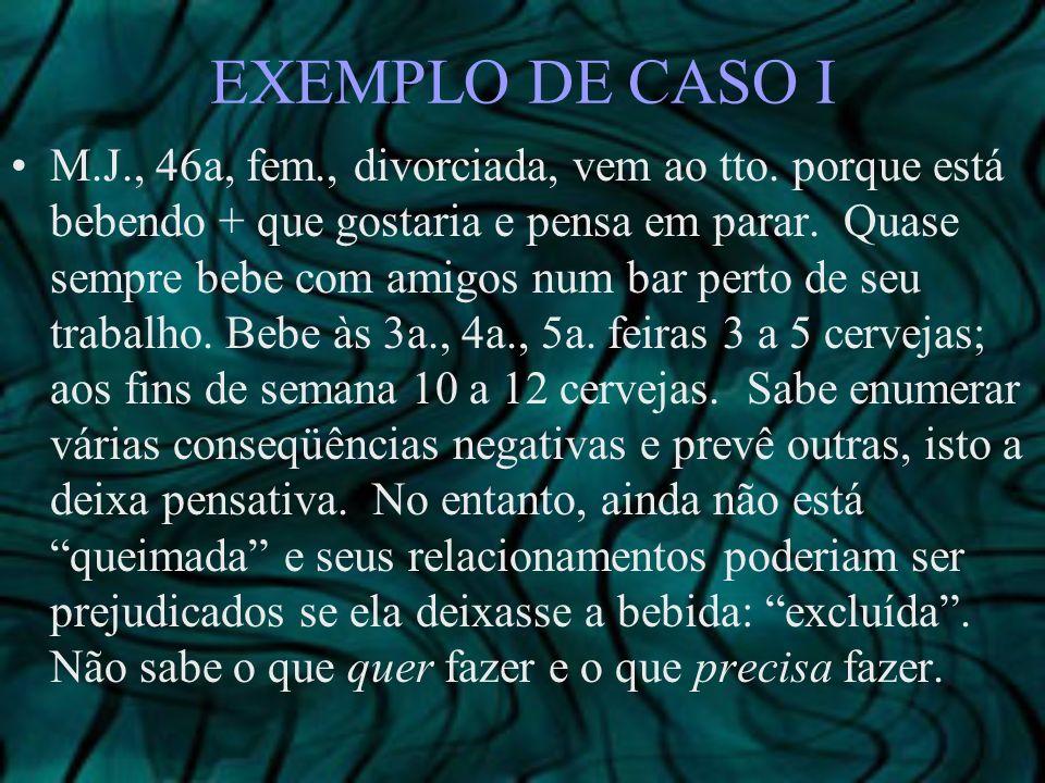 EXEMPLO DE CASO I