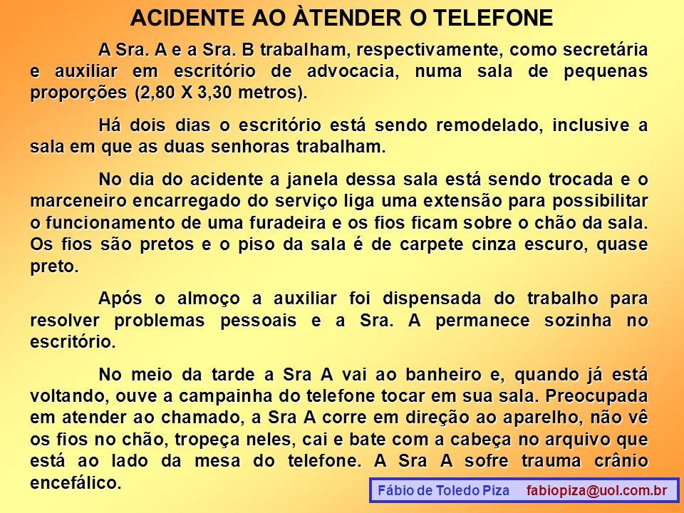 ACIDENTE AO ÀTENDER O TELEFONE