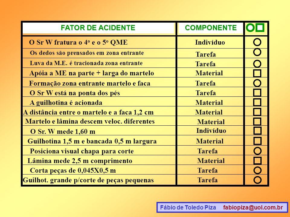 FATOR DE ACIDENTE COMPONENTE