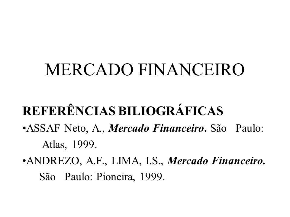MERCADO FINANCEIRO REFERÊNCIAS BILIOGRÁFICAS