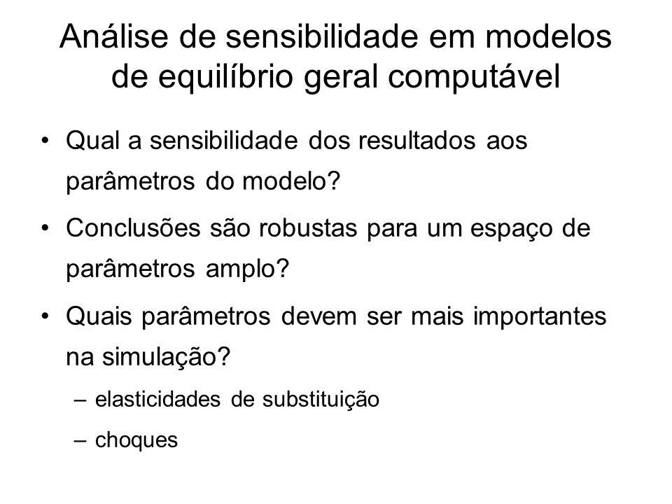 Análise de sensibilidade em modelos de equilíbrio geral computável