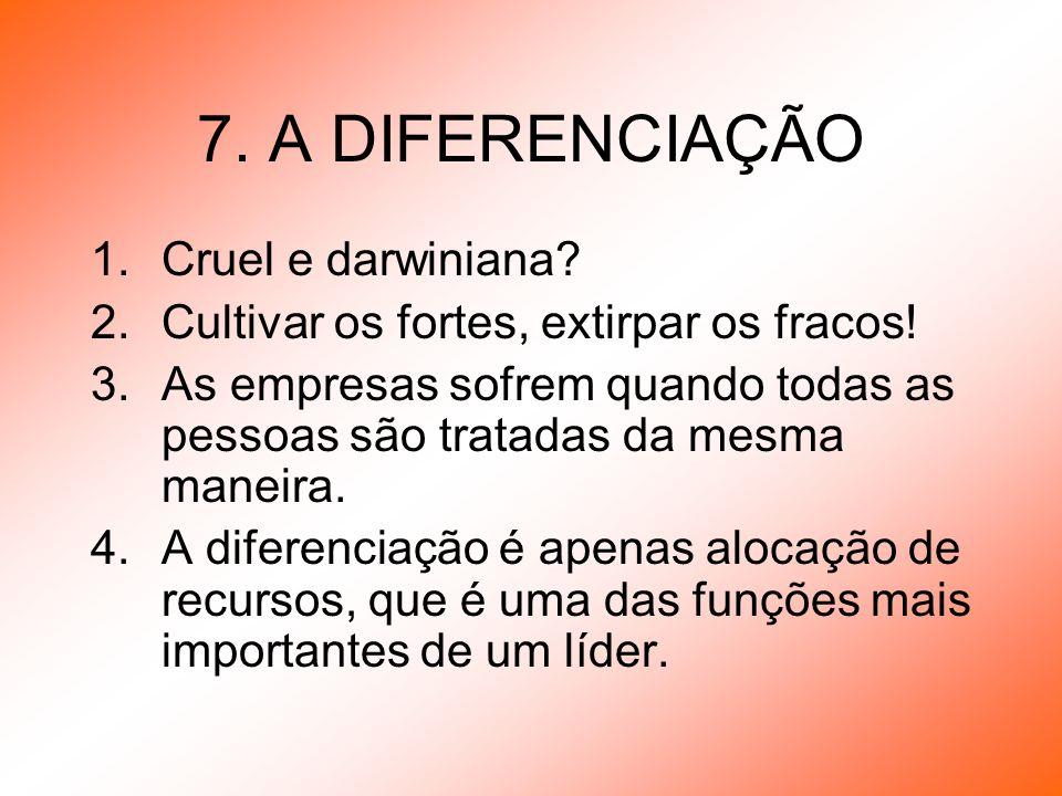 7. A DIFERENCIAÇÃO Cruel e darwiniana