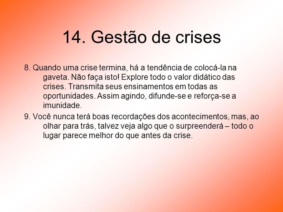 14. Gestão de crises