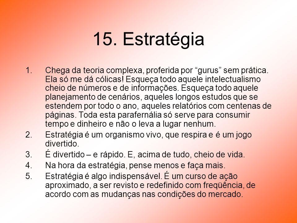 15. Estratégia