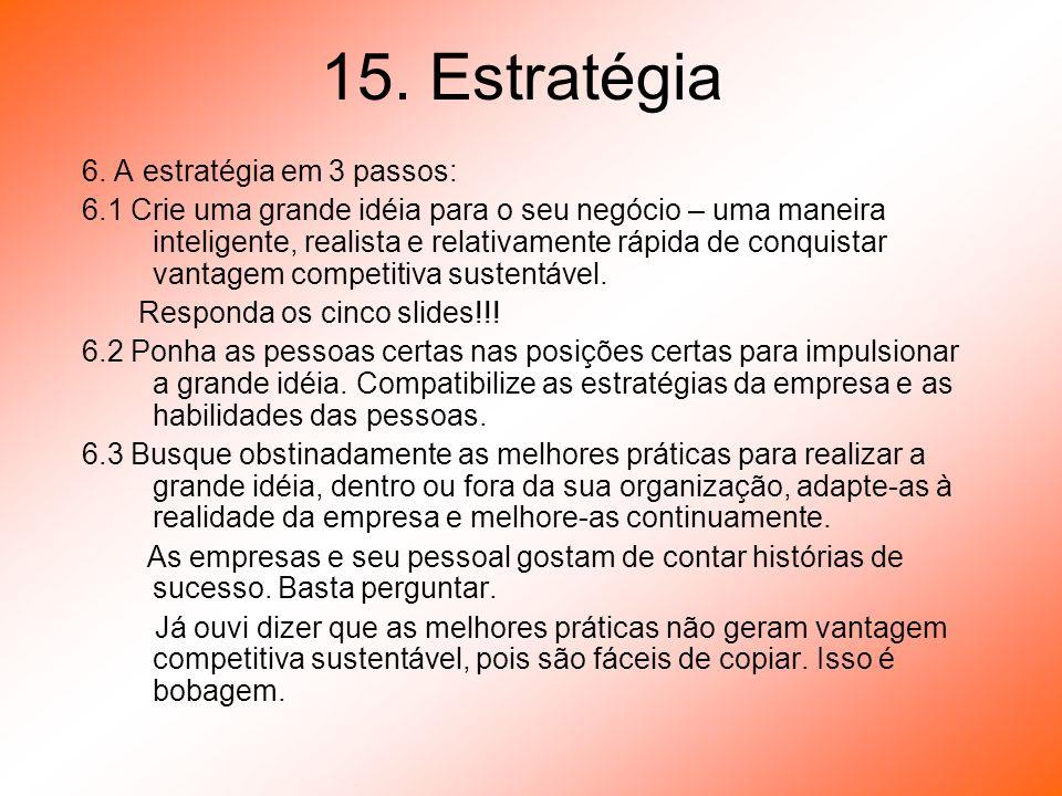15. Estratégia 6. A estratégia em 3 passos: