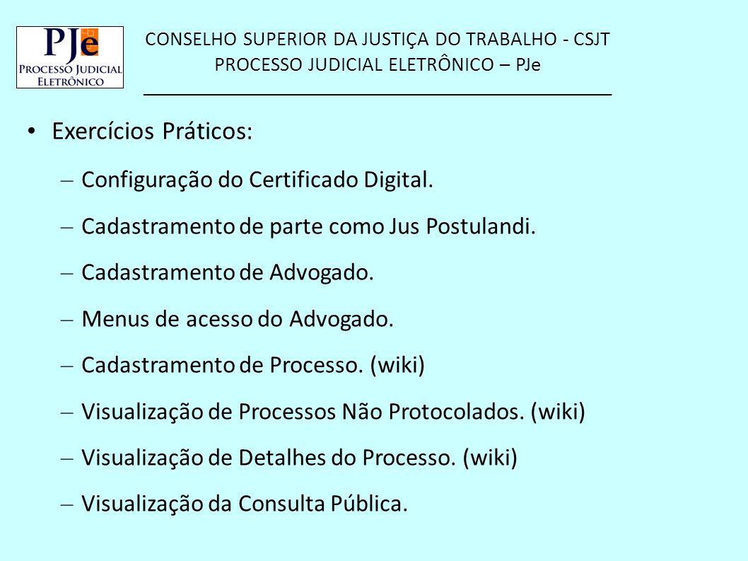 Exercícios Práticos: Configuração do Certificado Digital.