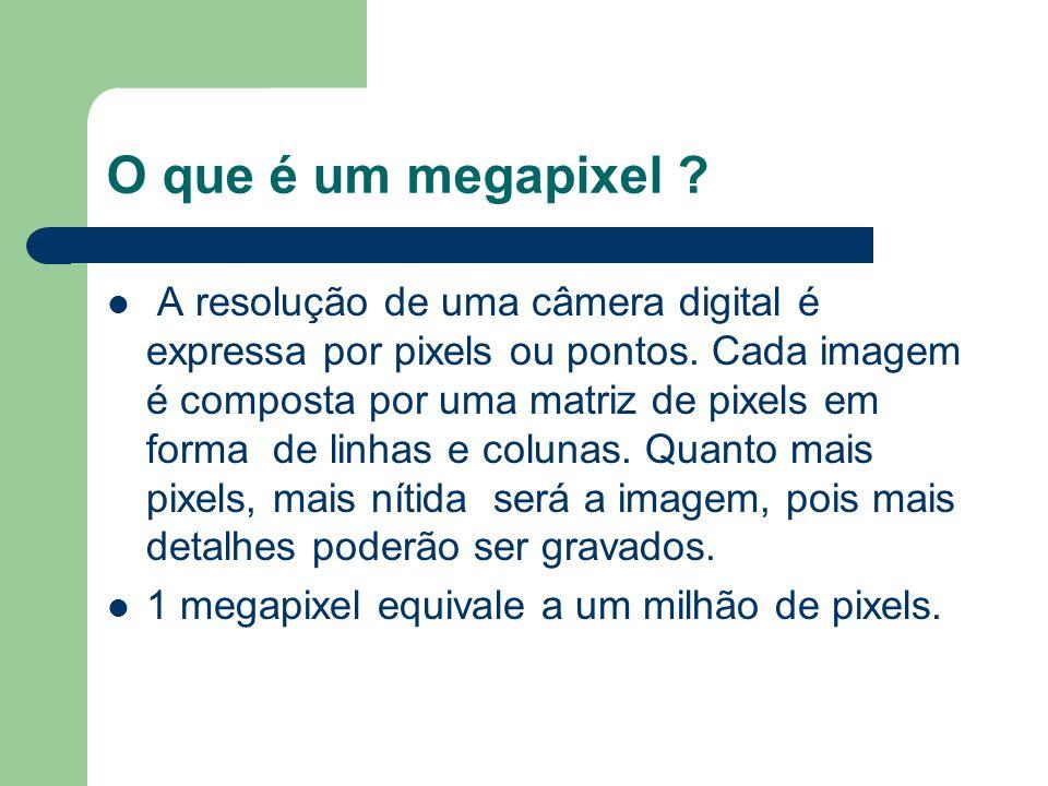 O que é um megapixel