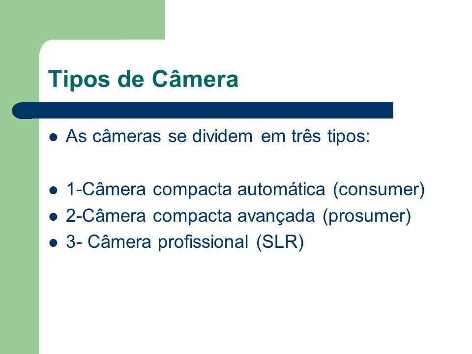 Tipos de Câmera As câmeras se dividem em três tipos: