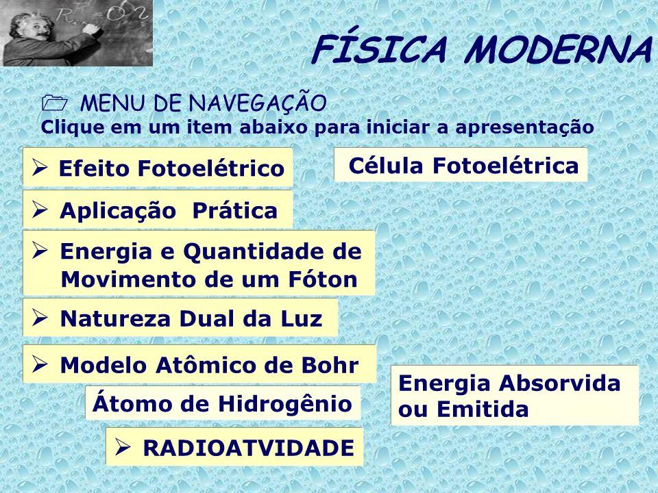 FÍSICA MODERNA  Efeito Fotoelétrico  Aplicação Prática