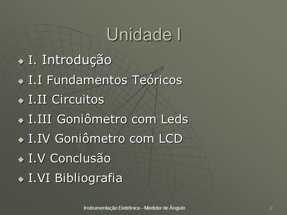 Unidade I I. Introdução I.I Fundamentos Teóricos I.II Circuitos