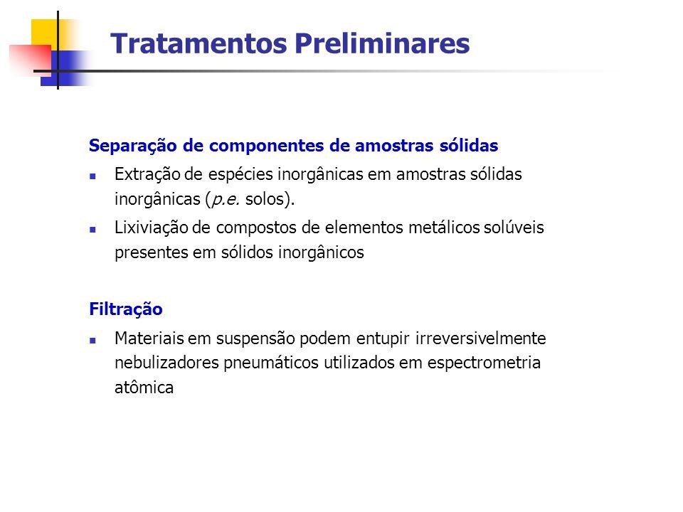 Tratamentos Preliminares