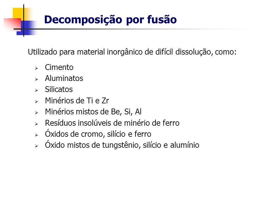 Decomposição por fusão